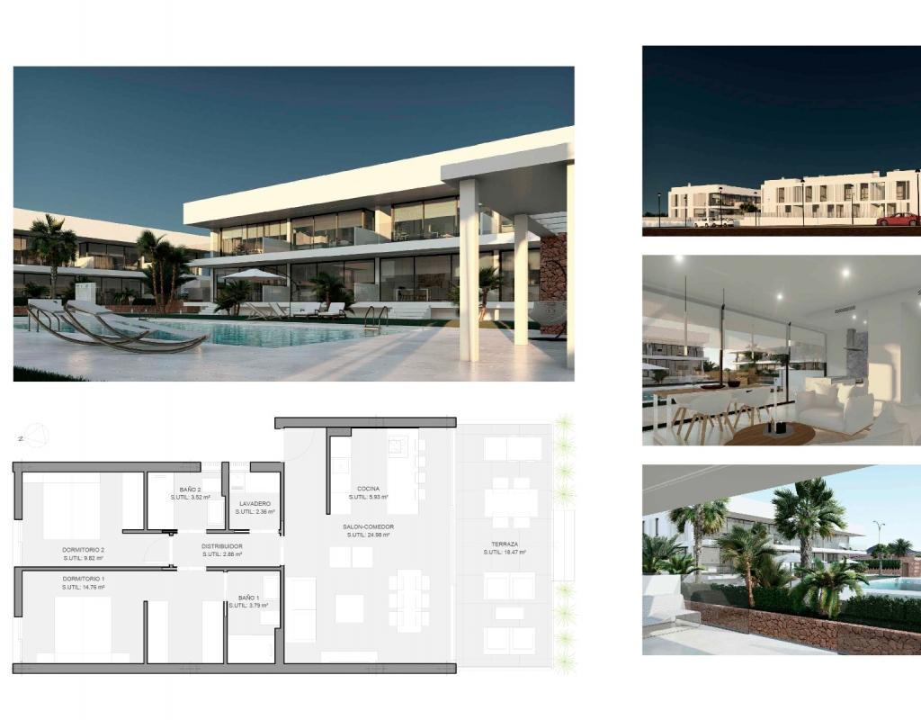 NC1790CO : Новые апартаменты с садом и бассейном, Ла Манга