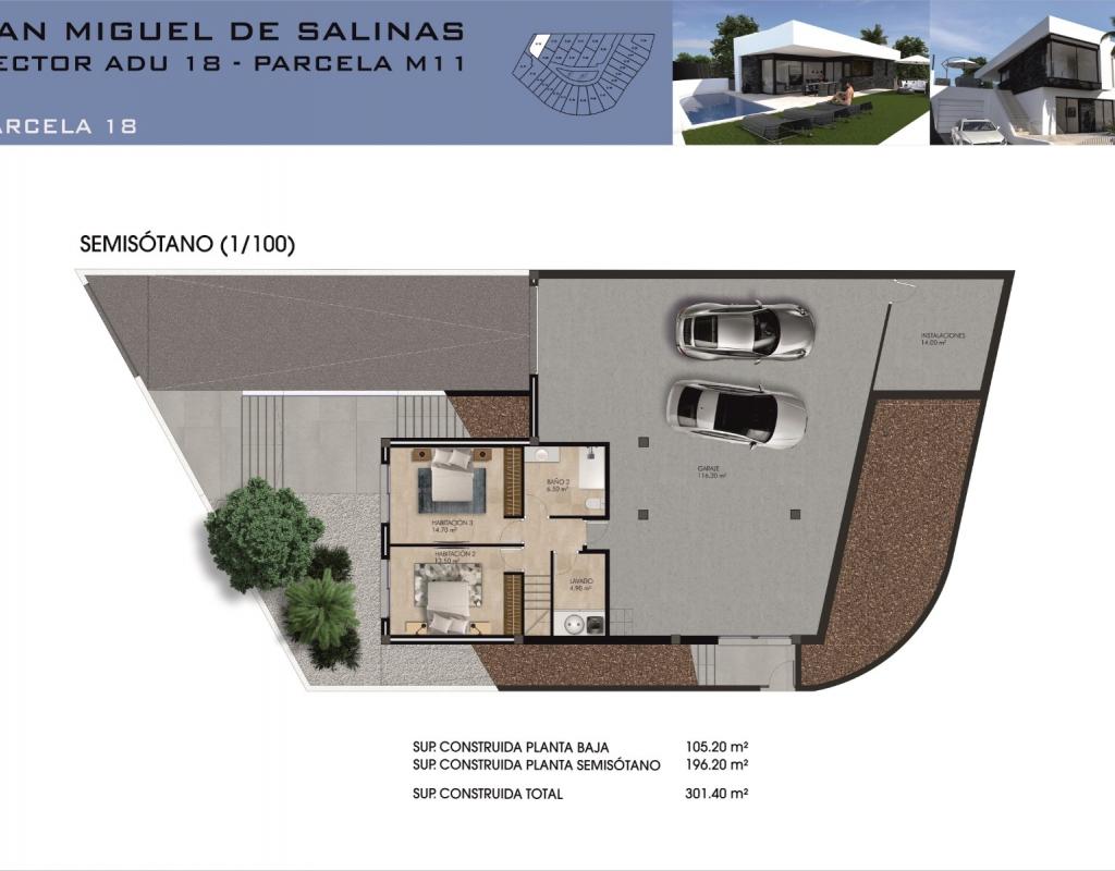 NC3942MP : Виллы в Сан-Мигель-де-Салинас Коста Бланка Юг