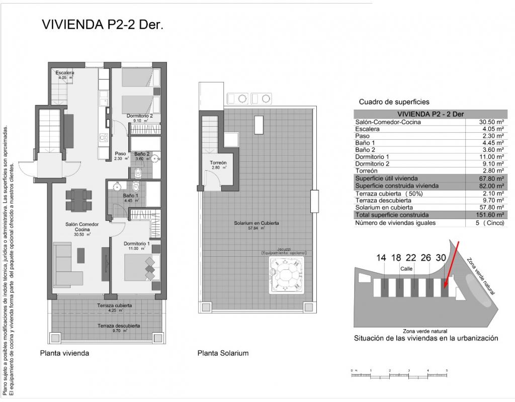 NC3383NA : Новое бунгало верхний этаж с террасой и солярием в Гран-Алаканте
