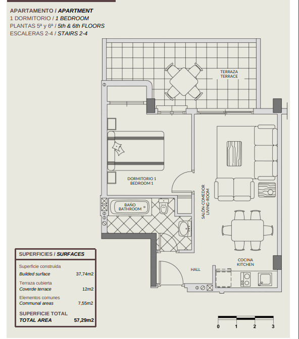 NC0010GE : Aпартаменты на первой линии пляжа в Кальпе, Коста Бланка Север