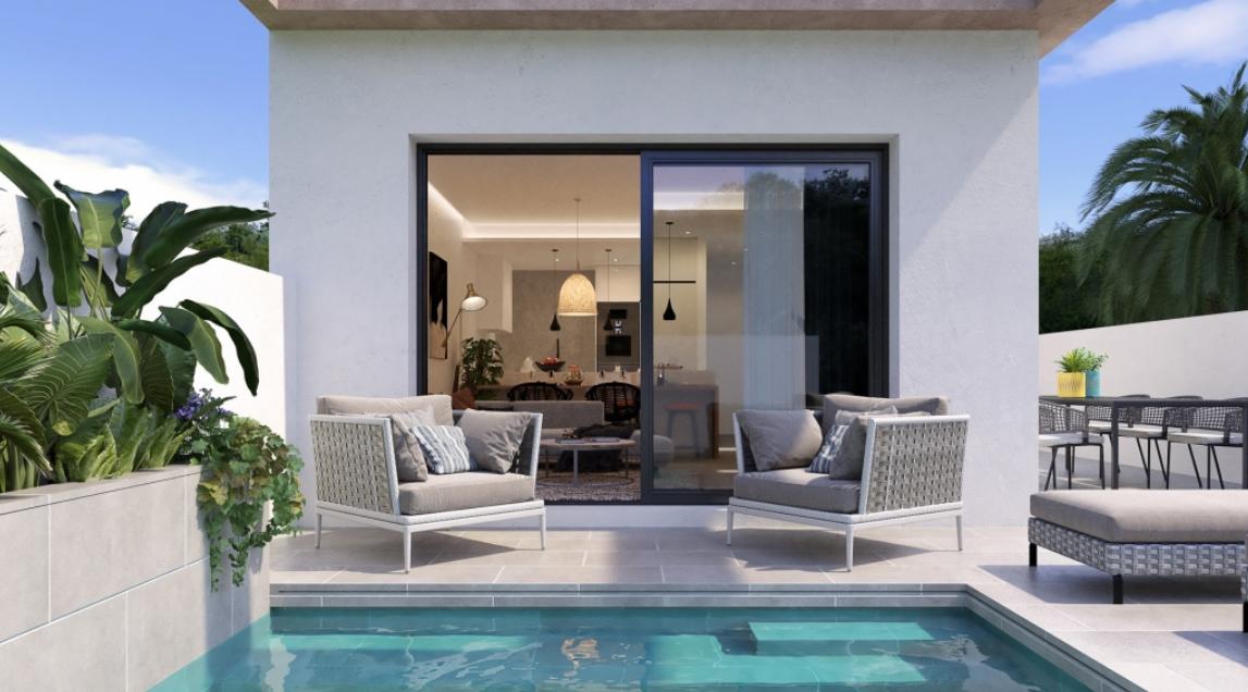 NC2014SS : Бунгало с террасой и частным бассейном в Долорес