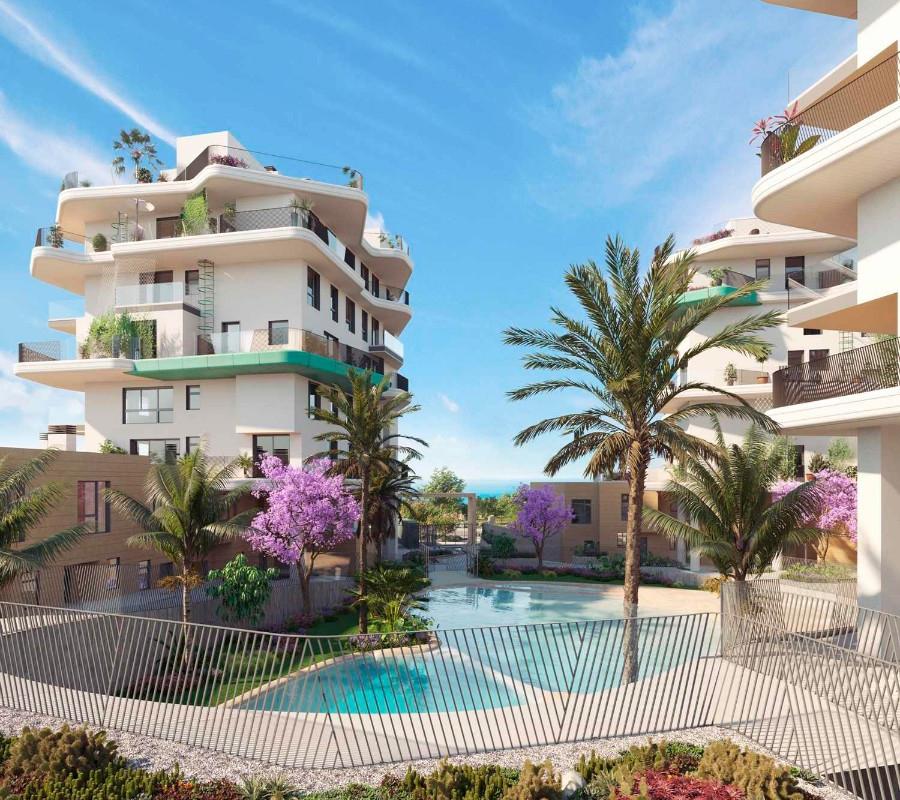 NC5654AL : Новый жилой комплекс на первой линии моря в Вильяхойосе