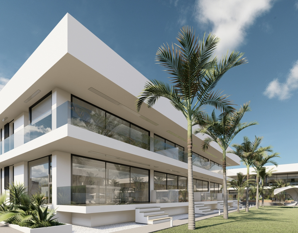 NC1793CO : Новые апартаменты с садом и бассейном, Ла Манга